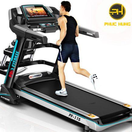 máy chạy bộ pro fitness pf-115 màn hình cảm ứng