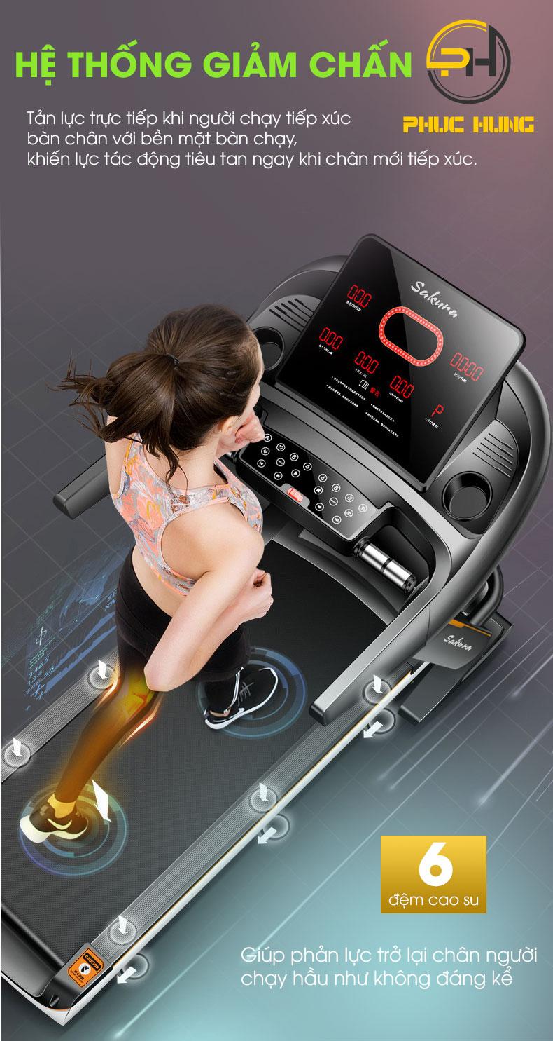 Hệ thống giảm chấn tốt giảm đau chân khi chạy bộ.