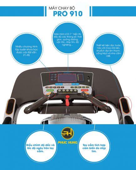 điều khiển pro910 kết hợp tay cầm đo nhịp tim
